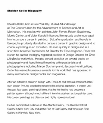 Biography of Sheldon Cotler